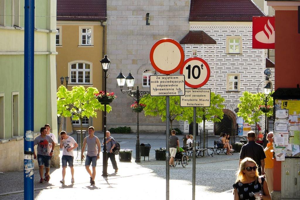 Znak zakazu ruchu w Rynku
