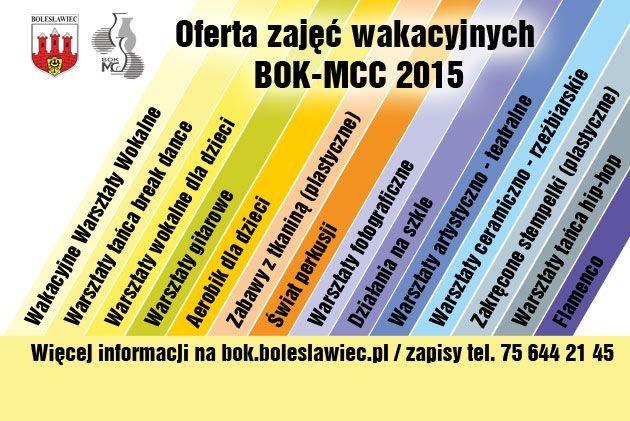 Plakat wakacje z BOK-MCC