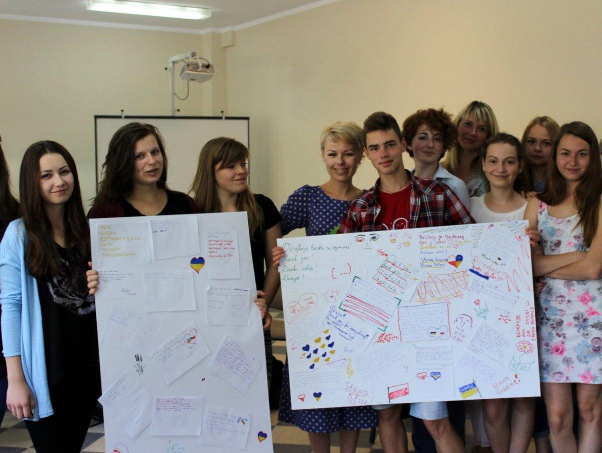 Goście z Ukrainy w II LO