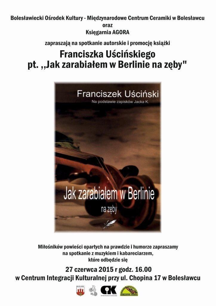 Plakat książka Franciszek Uściński