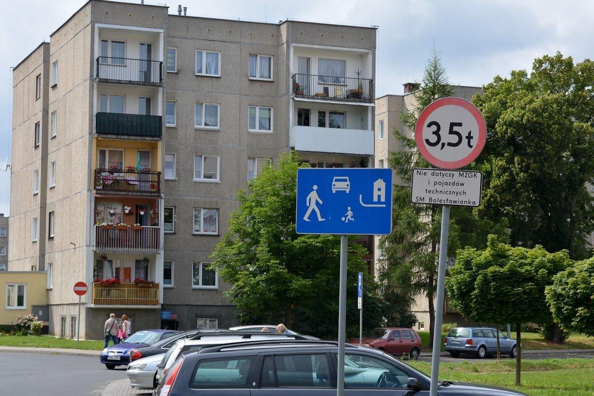 Znak od strony ul. Staszica