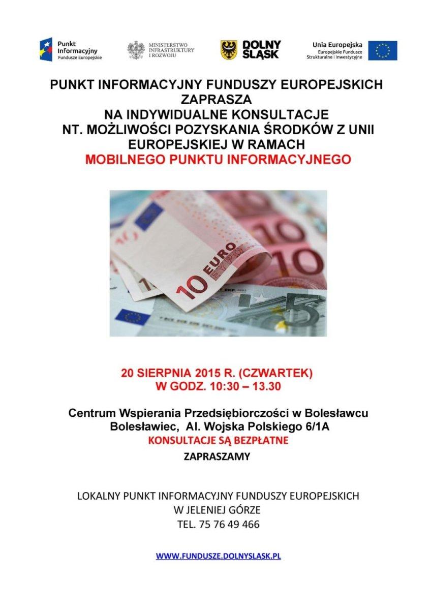 Bezpłatne konsultacje o możliwościach pozyskania środków z UE