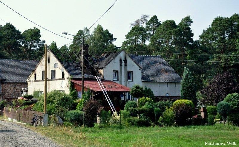 Pożar budynku mieszkalnego w Kościelnej Wsi