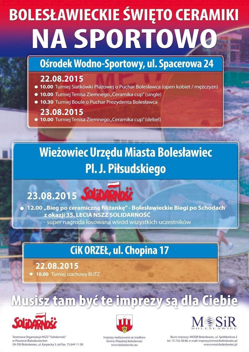 Bolesławieckie Święto Ceramiki na Sportowo