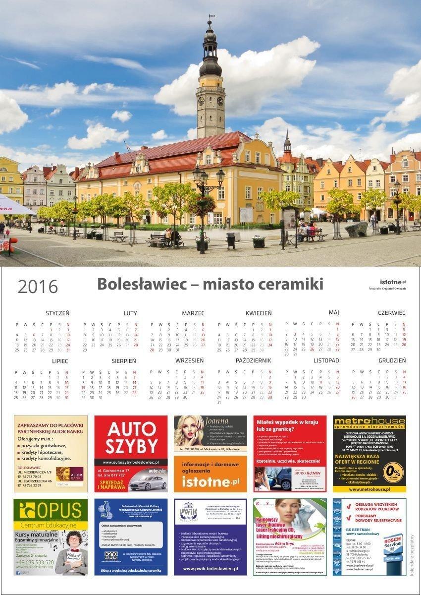 Kalendarz na 2016 rok