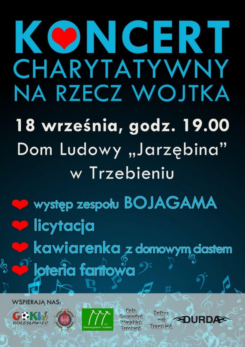 Plakat koncertu charytatywnego