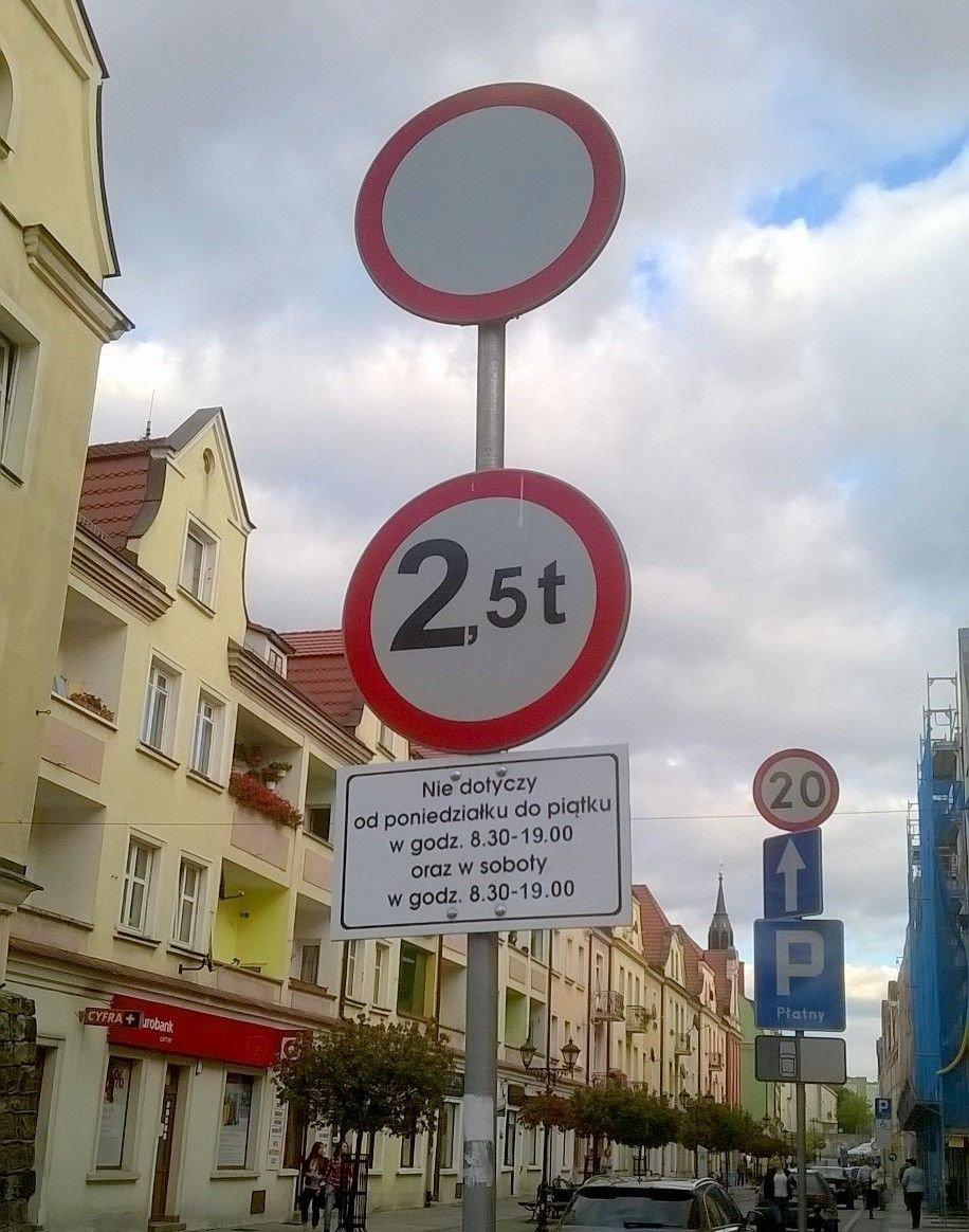 Oznakowanie ulicy Prusa w Bolesławcu
