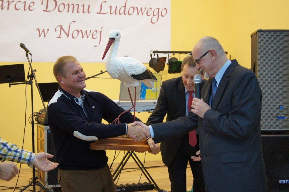 Dom Ludowy w Nowej otwarty po rozbudowie: Mieczysław Żuraw i Andrzej Dutkowski