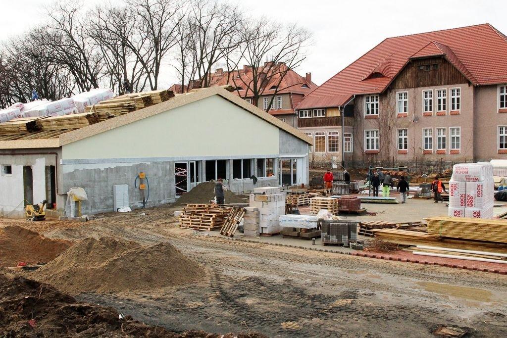Budowa Biedronki przy alei Tysiąclecia