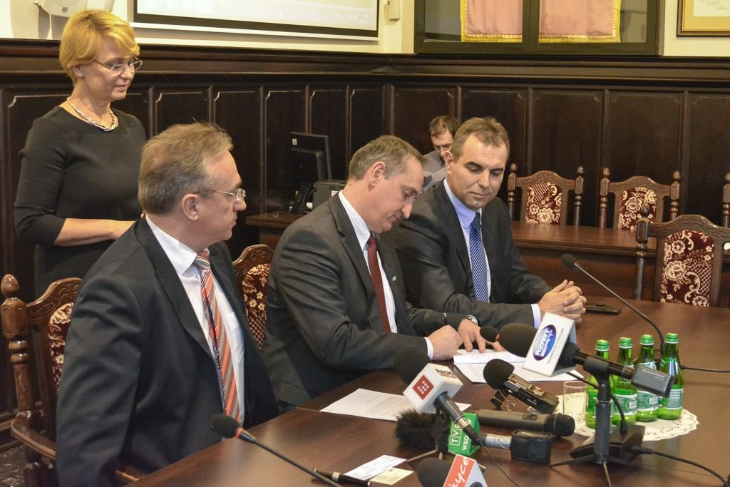 Od lewej: Piotr Roman, Marcin Bartosz, Sławomir Kossakowski