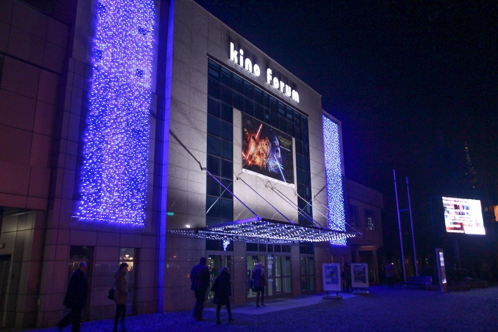 Oświetlenie świąteczne kina Forum BOK-MCC