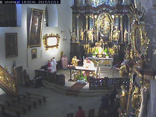 Obrazy z kamer w Bazylice Mniejszej