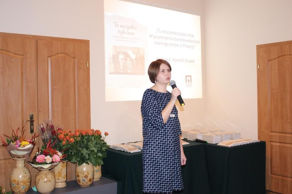Promocja książki o reemigrantach z Francji w Bolesławcu
