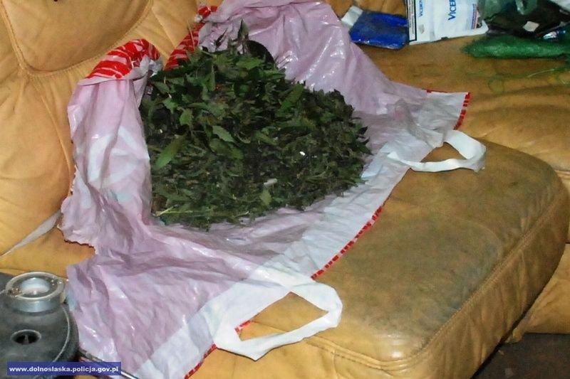 Wpadł z ponad 2 tys. porcji marihuany