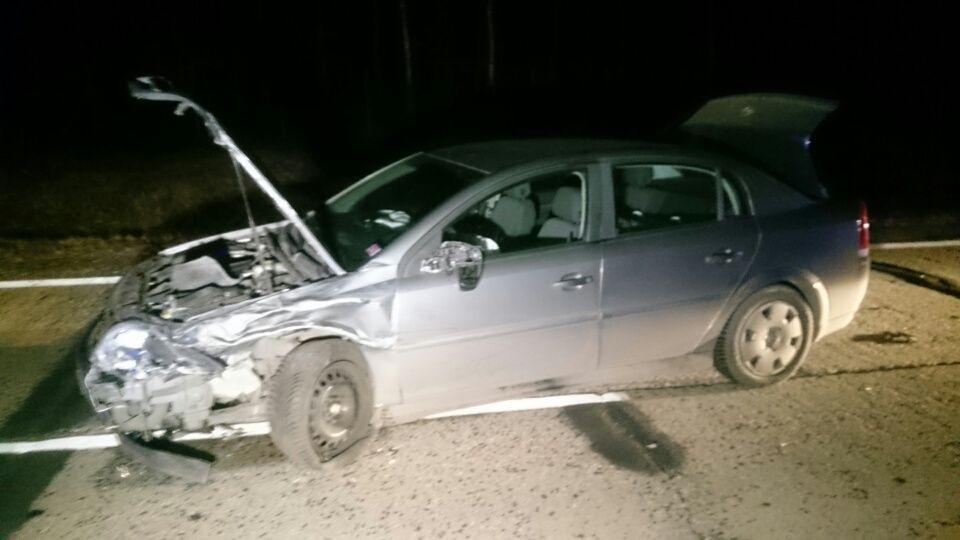 Jedno z auto, które brało udział w wypadku