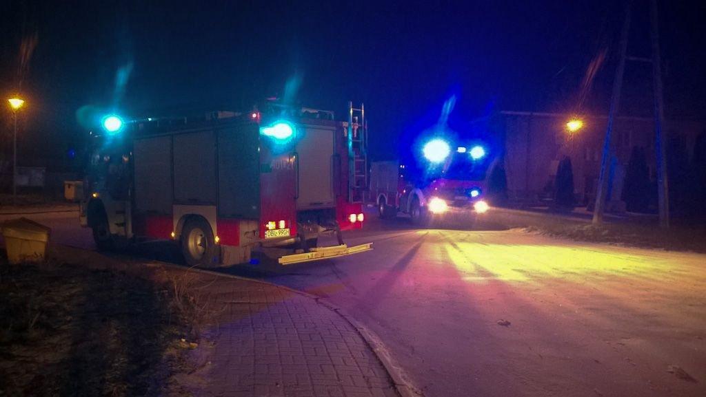 Pożar w Iwinach (gmina Warta Bolesławiecka)