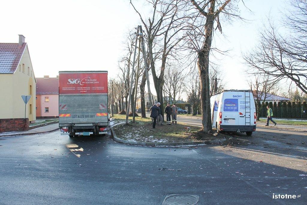 Zderzenie ciężarówki z busem