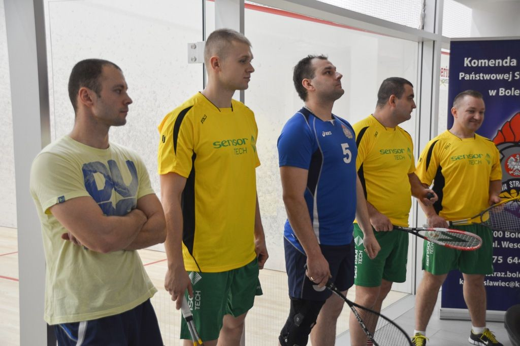 Bolesławieccy strażacy w turnieju squasha z-index: 0