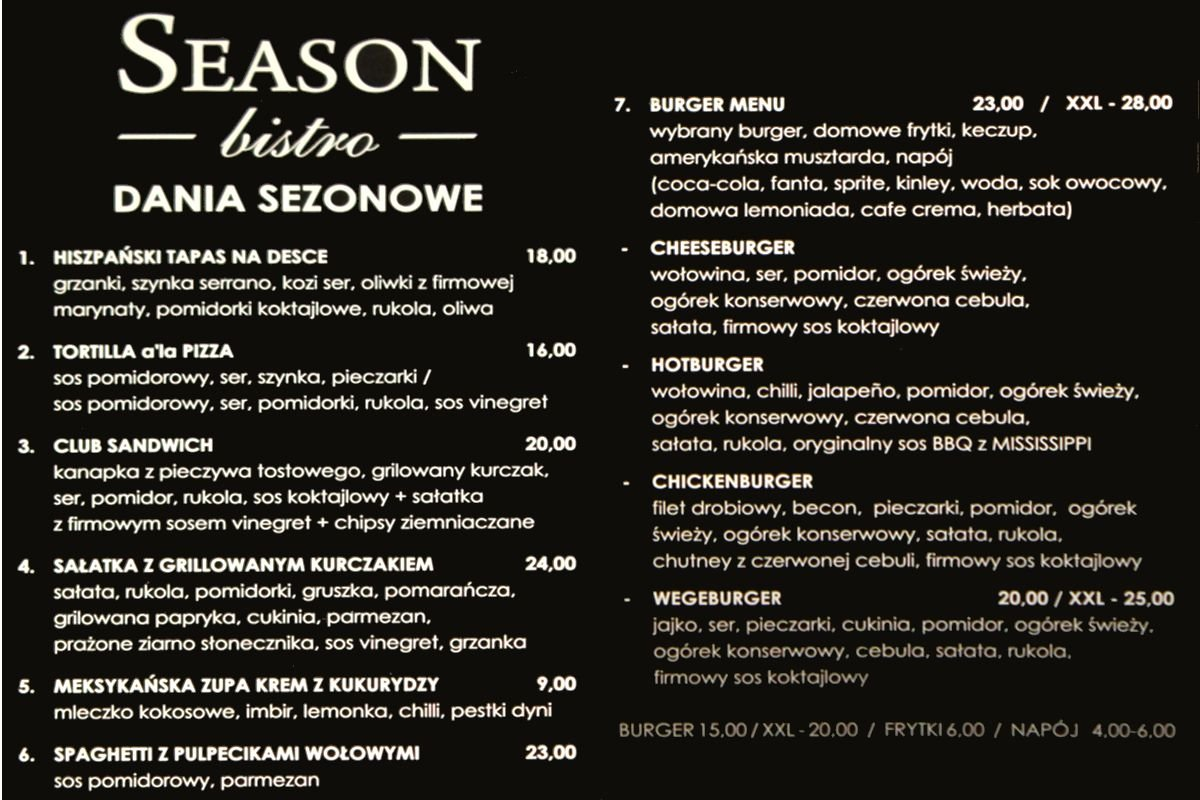 Seazon Bistro - smaki wyłącznie ze świeżych składników