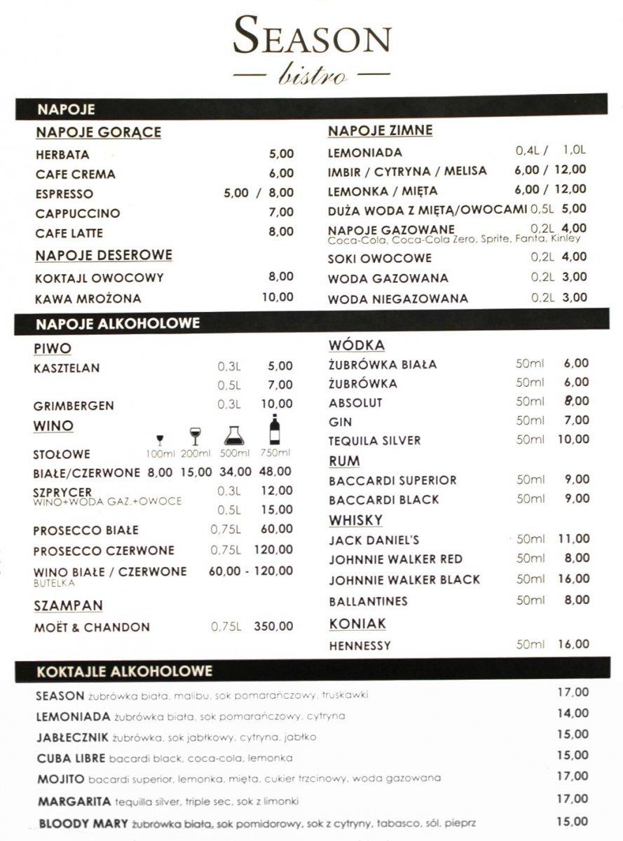 Seazon Bistro - smaki wyłącznie ze świeżych składników z-index: 0