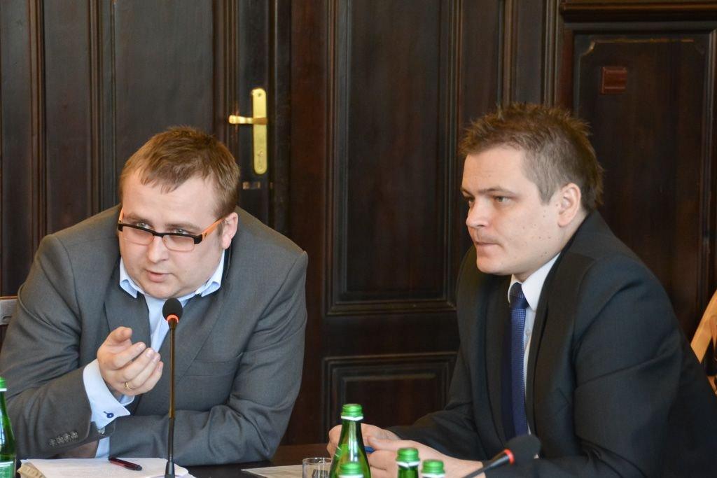 Od lewej: Wojciech Kasprzyk i Łukasz Molak