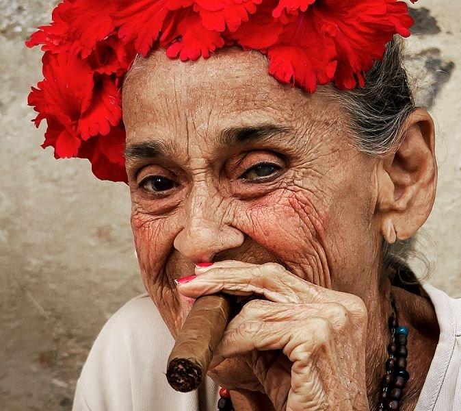 Dama z cygarem