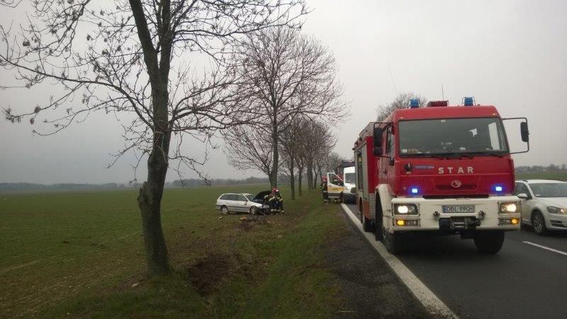Wypadek pod Kruszynem – jedna osoba ranna