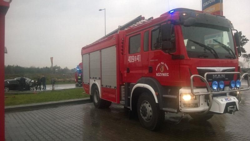 Pożar auta na A4