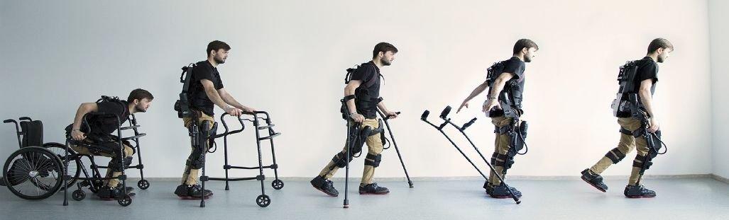 Egzoszkielet EKSO GT™ amerykańskiej firmy EKSO BIONICS to przenośny bioniczny szkielet