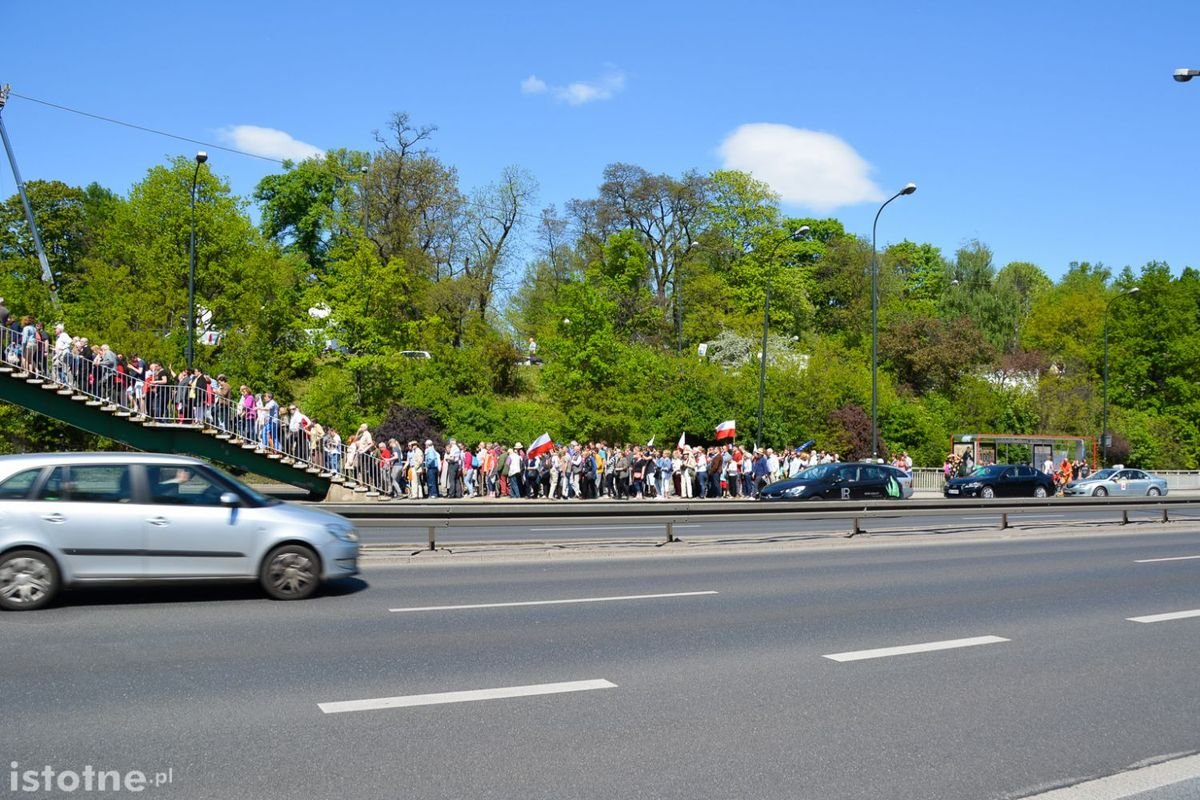 Bolesławianie na marszu 7 maja