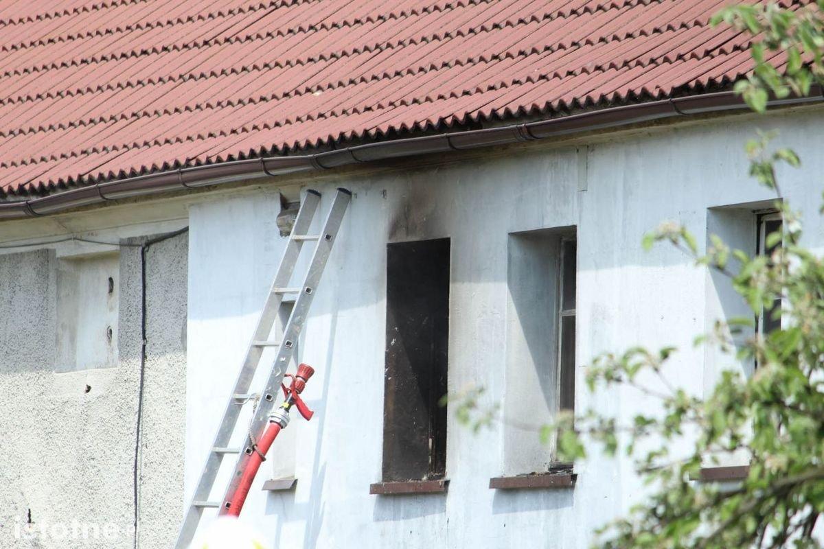 Pożar budynku w Warcie Bolesławieckiej