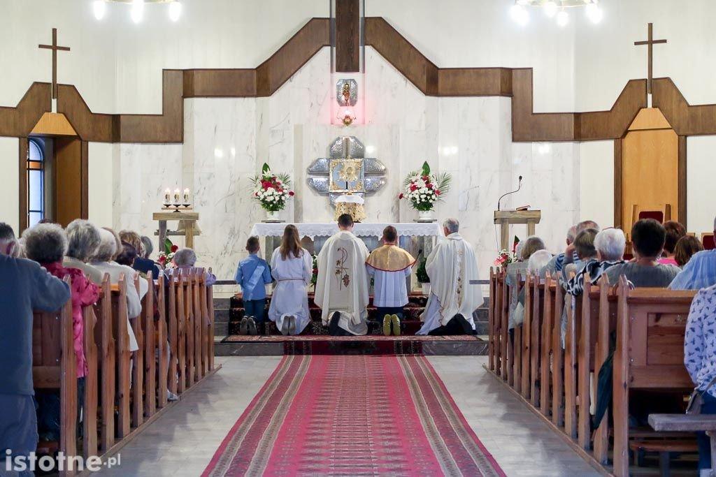 Nabożeństwo w kościele pw. Chrystusa Króla w Bolesławcu