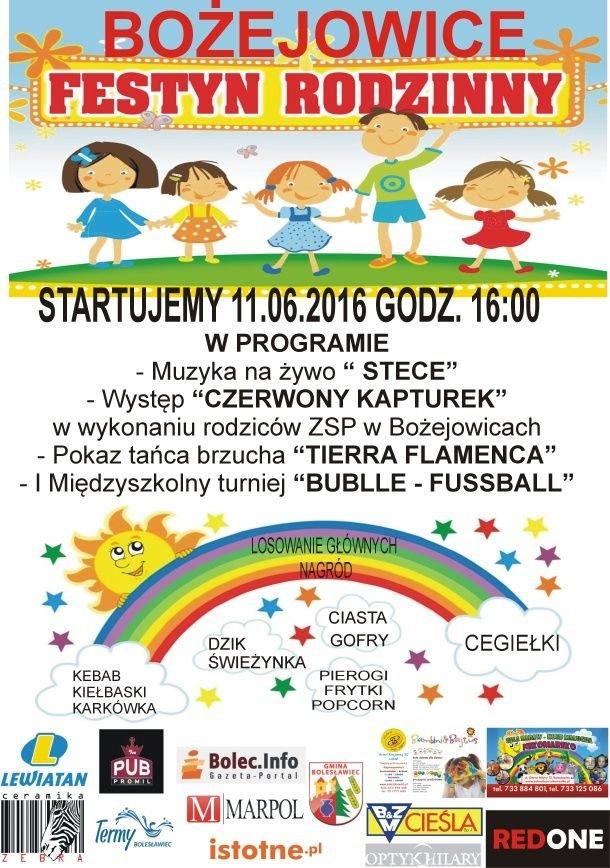 Festyn Rodzinny w Bożejowicach - plakat
