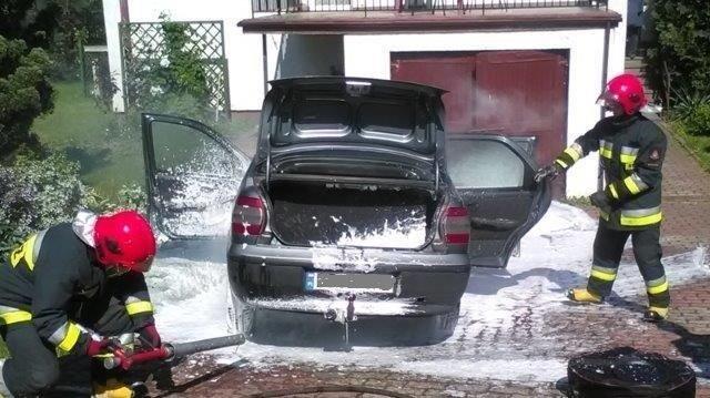 Pożar auta w Bożejowicach
