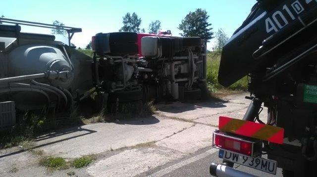 Wypadek cysterny w pobliżu Szczytnicy
