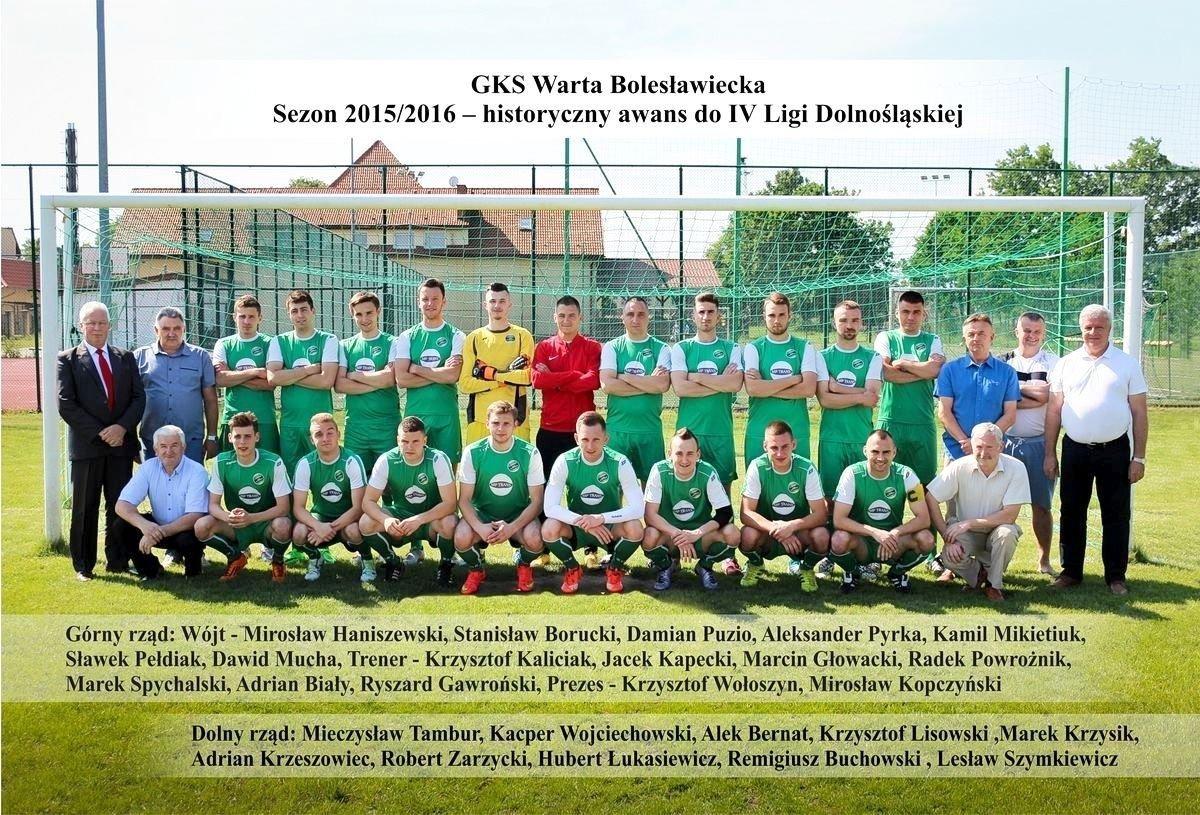 GKS Warta Bolesławiecka sezon 2015-2016