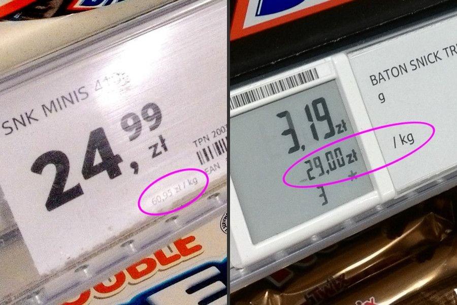Porównanie cen w Tesco