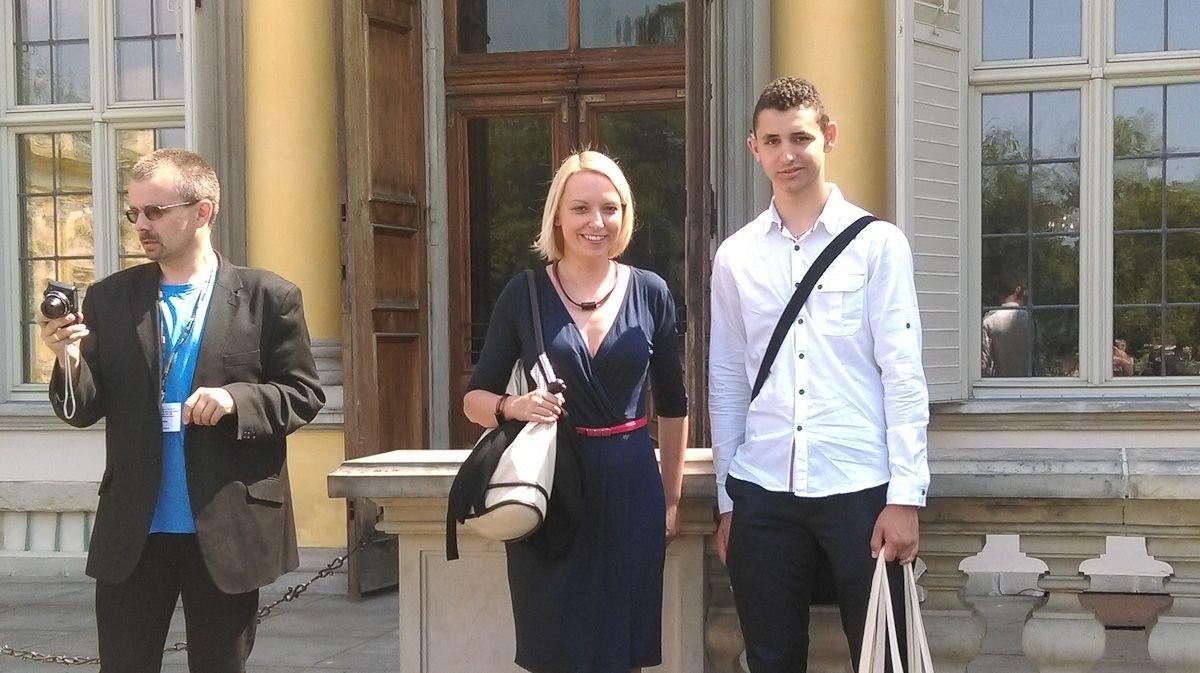 Nauczycielka Anna Lisiak i finalista Marcin Wolański