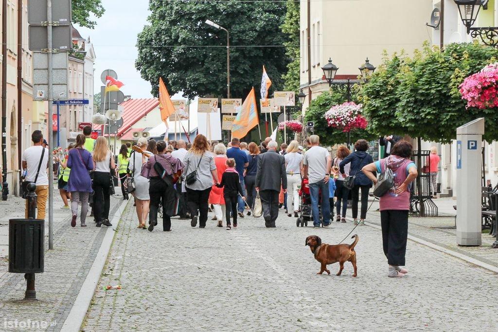 Uczestnicy marszu dla życia i rodziny