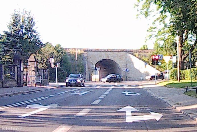Dojazd do skrzyżowania z ulicą Tamka od strony ulicy Grunwaldzkiej