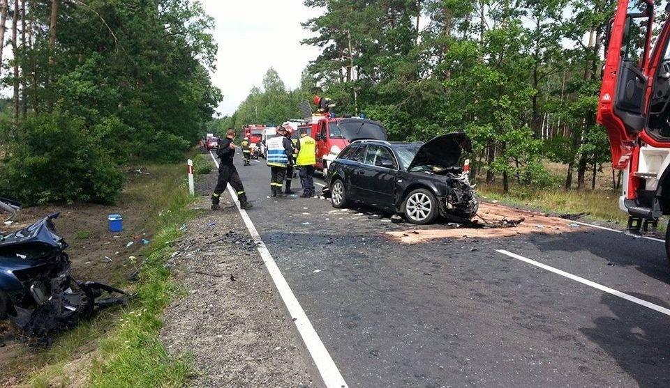 Wypadek koło Kozłowa - 6 osób rannych