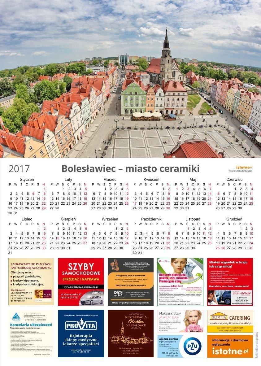 Kalendarz na 2017 rok od istotne.pl