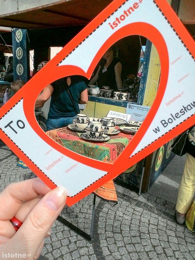 Widokówka, przez którą można pokazać to, co kocha się w Bolesławcu
