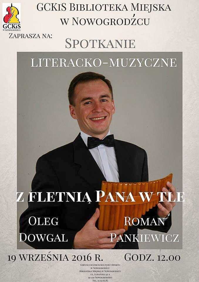 Spotkanie literacko-muzyczne z Olegiem Dowgalem