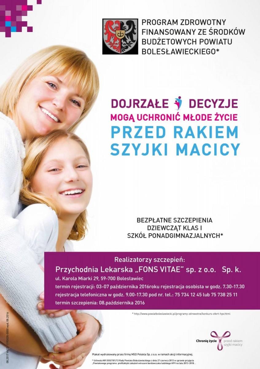 Bezpłatne szczepienia dziewcząt