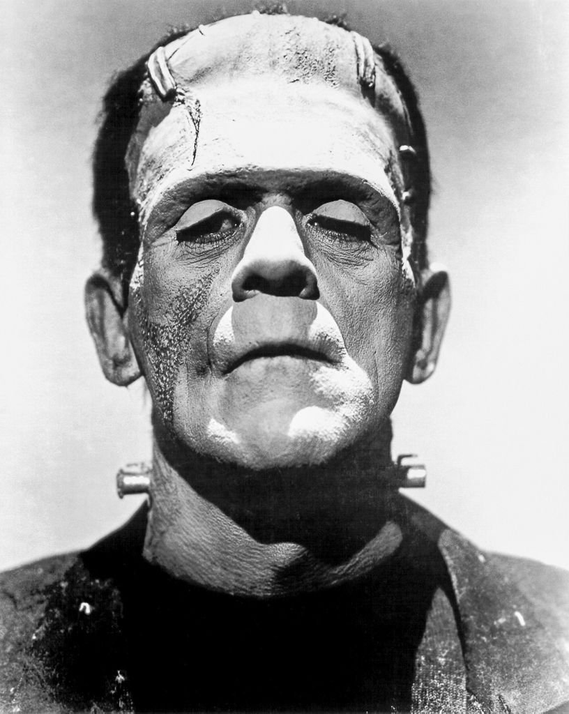Boris Karloff jako potwór Frankensteina w filmie z 1935 r.