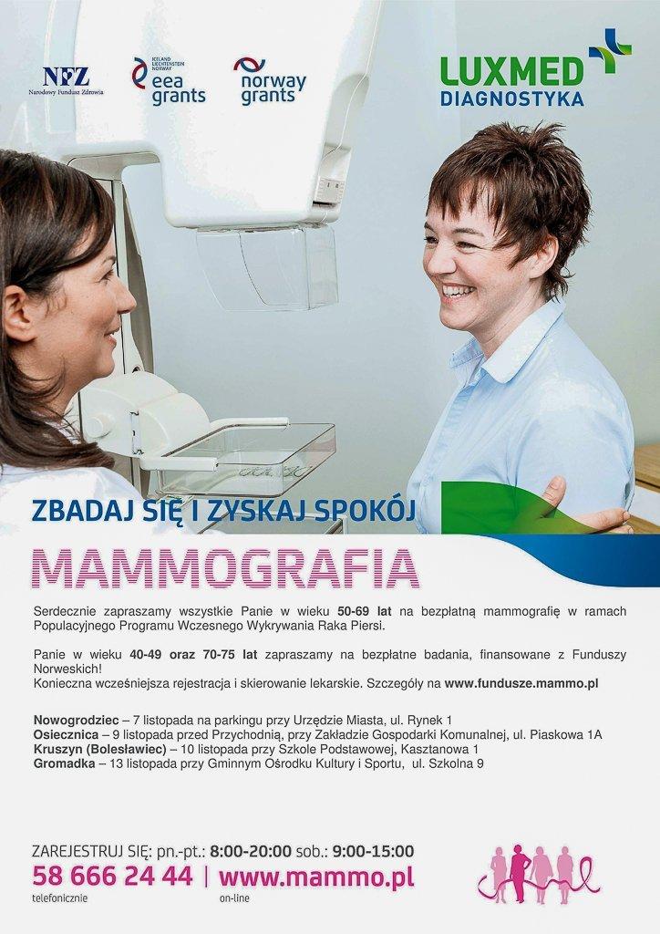 Miesiąc walki z rakiem piersi. Zbadaj się bezpłatnie w mammobusie!