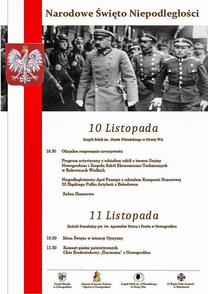 Obchody Narodowego Święta Niepodległości w Nowogrodźcu