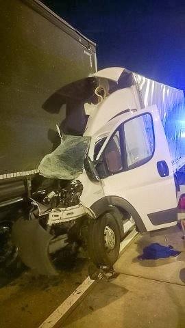 Trzy kolizje na A4. Jedna osoba ranna