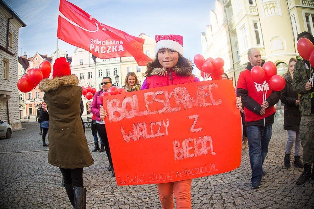 Marsz bolesławieckich wolontariuszy Szlachetnej Paczki